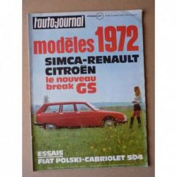 Auto-Journal n°15-71, Peugeot 504 cabriolet, Fiat Polski 125, DAF Grand-Air, Cushman Trackster Evinrude
