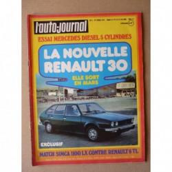Auto-Journal n°02-75, Mercedes 240D 3.0 w115, Renault 30, Renault 6 TL vs. Simca 1100 LX