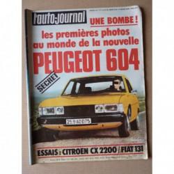Auto-Journal n°04-75, Fiat 131 1300S, Citroën CX 2200, Renault KZ11 taxi G7, Estafette Dracula