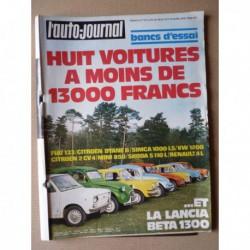 Auto-Journal n°07-75, Lancia Beta 1300, BMW 2002, Skoda S110L, Simca 1000LS, Fiat 133, VW 1200, Citroën Dyane 6, 2cv4