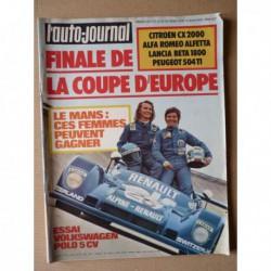 Auto-Journal n°10-75, Volkswagen Polo, Citroën CX2000, Lancia Beta 1800, Alfa Romeo Alfetta, Peugeot 504TI