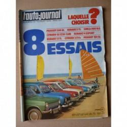 Auto-Journal n°12-75, Citroën 2cv6, GS 1220 Club, Renault 4 Export, 5 TL, 12 TL, Peugeot 104 GL, 504 GL, Simca 1100 GLS