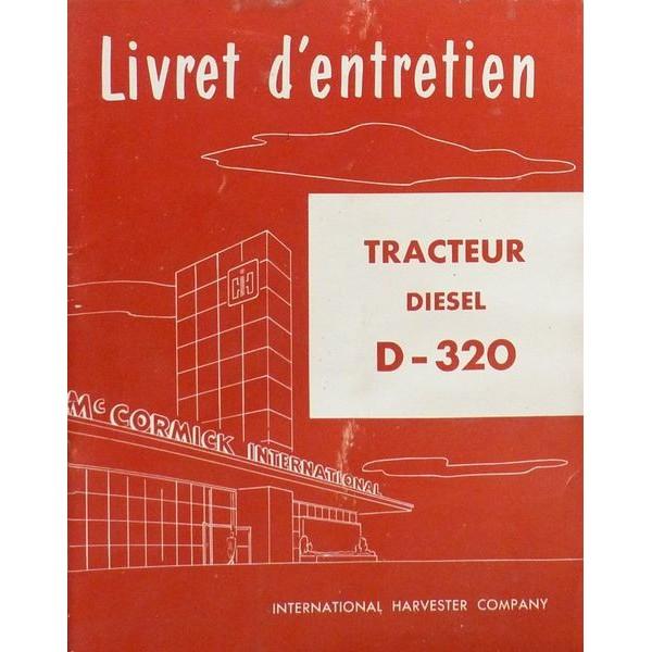 notice d 39 entretien mccormick international tracteur diesel d320. Black Bedroom Furniture Sets. Home Design Ideas
