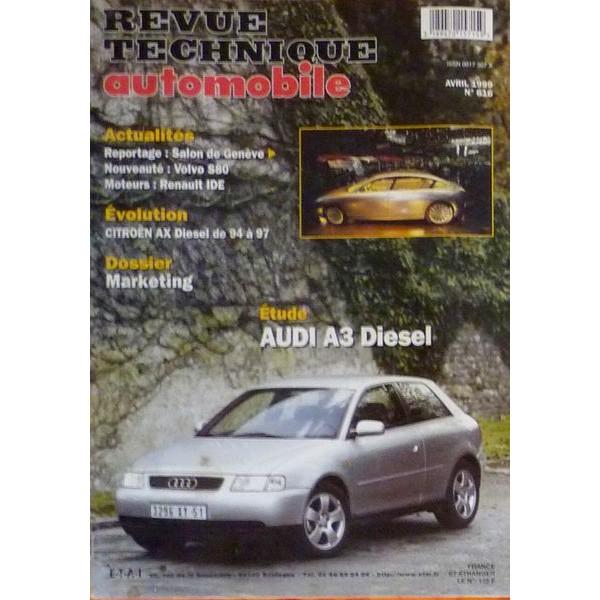 rta revue technique automobile audi a3 type 8l diesel 1 9 tdi. Black Bedroom Furniture Sets. Home Design Ideas