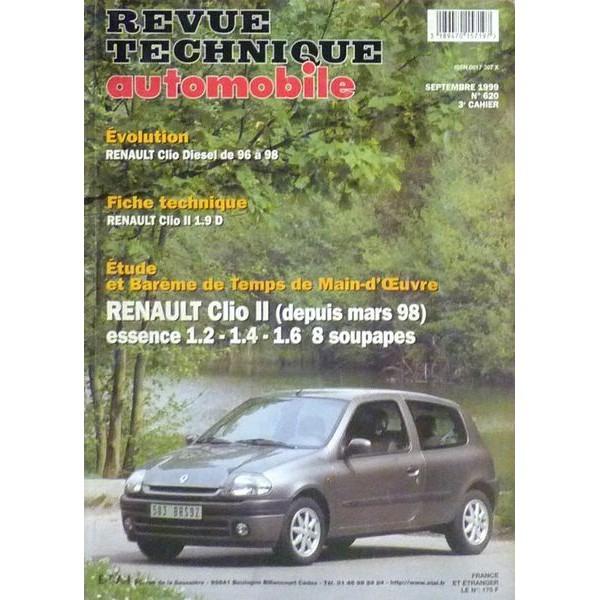 rta revue technique automobile renault clio ii essence 1 2 1 4 1 6. Black Bedroom Furniture Sets. Home Design Ideas