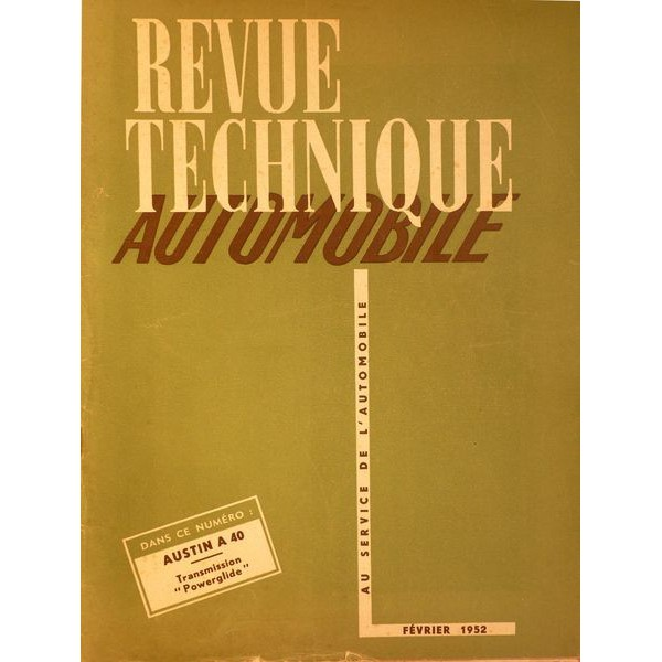 rta revue technique automobile chevrolet bo te powerglide 1950 52. Black Bedroom Furniture Sets. Home Design Ideas