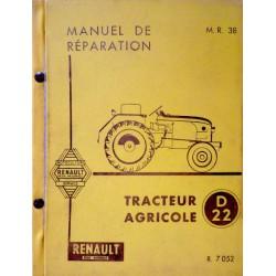 Renault D22, N72, E72, V72 (R7052), manuel de réparation