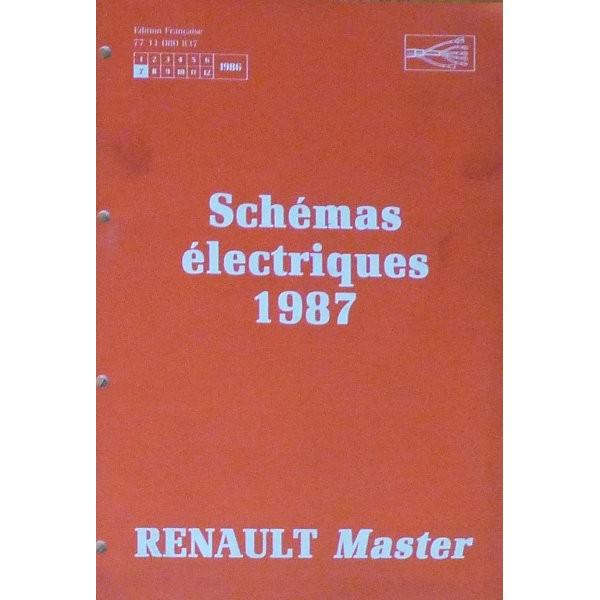 renault master sch mas lectriques 1987. Black Bedroom Furniture Sets. Home Design Ideas