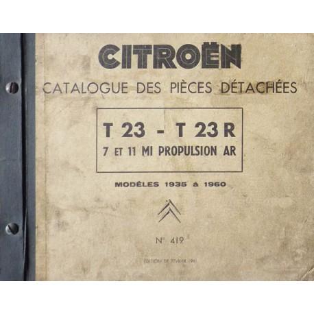 catalogue de pi ces citro n u23 t23 t23r de 1935 62. Black Bedroom Furniture Sets. Home Design Ideas