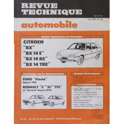 RTA Citroën BX et BX 14E, 14RE, 14TRE