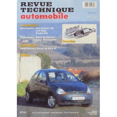 rta revue technique automobile ford ka i essence 1 3. Black Bedroom Furniture Sets. Home Design Ideas