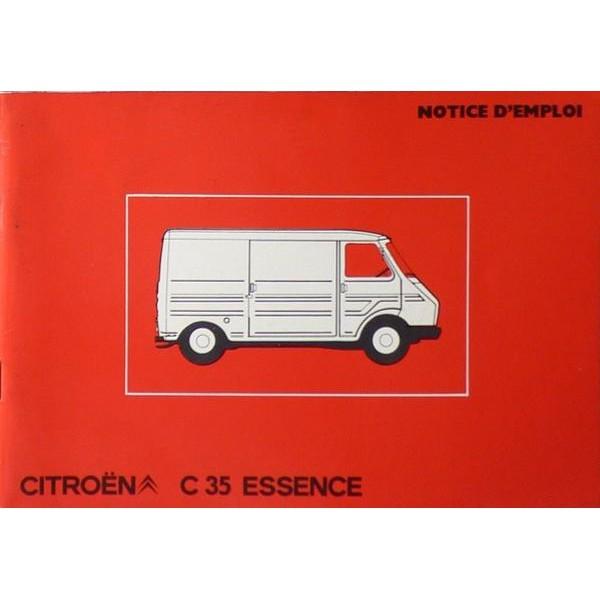 notice d 39 entretien citro n c35 essence. Black Bedroom Furniture Sets. Home Design Ideas