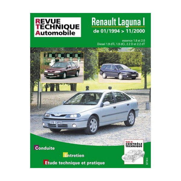 rta renault laguna i phase 1 et 2 essence et diesel. Black Bedroom Furniture Sets. Home Design Ideas