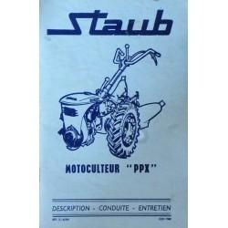 Staub motoculteur PPX S6, notice d'entretien