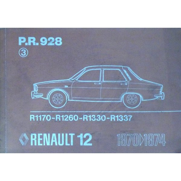 renault 12 catalogue de pi ces pr928. Black Bedroom Furniture Sets. Home Design Ideas