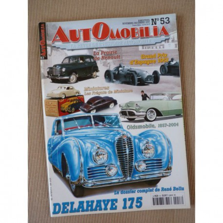 automobilia n 53 delahaye 175 renault prairie 2cv sp ciales oldsmobile. Black Bedroom Furniture Sets. Home Design Ideas