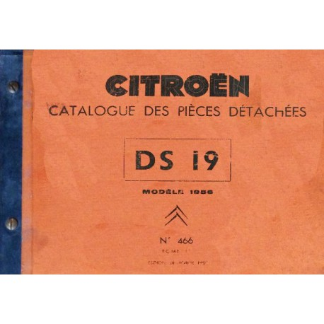 citro n ds 19 mod le 1956 catalogue de pi ces. Black Bedroom Furniture Sets. Home Design Ideas