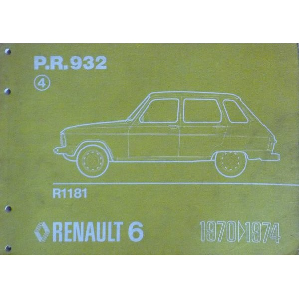 renault 6 r1181 catalogue de pi ces. Black Bedroom Furniture Sets. Home Design Ideas