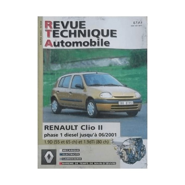 rta renault clio ii phase 1 diesel. Black Bedroom Furniture Sets. Home Design Ideas