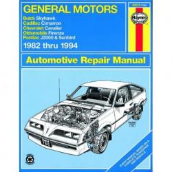 Haynes Chevrolet Cavalier, Pontiac J-2000, Sunbird, Oldmobile Firenza, Buick Skyhawk, Cadillac Cimarron (1982-94)