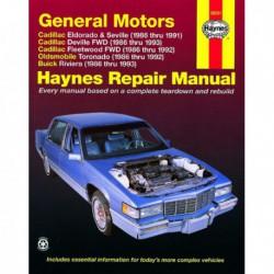 Haynes Cadillac Eldorado, Seville, Deville, Fleetwood, Oldsmobile Toronado, Buick Riviera (1986-93)