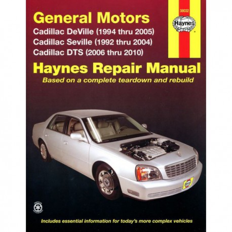 Haynes Cadillac Deville, Seville et DTS (1992-05)