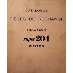 Vierzon 204 tous types, catalogue de pièces