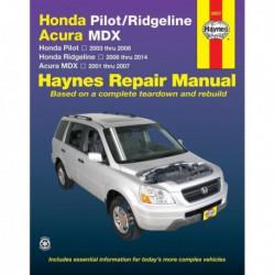 Haynes Honda Pilot, Ridgeline et Acura MDX (2001-14)