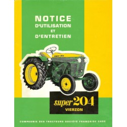 Vierzon Super 204, notice d'entretien