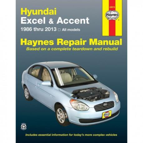 Haynes Hyundai Excel et Accent (1986-2013)
