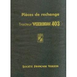 Vierzon 403, catalogue de pièces