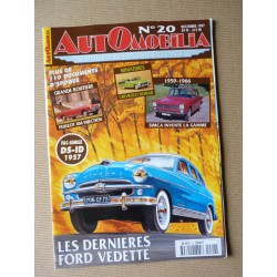Automobilia n°20, Ford Vedette, Peugeot 404 inj., Avions Voisin, gamme Simca, Mercedes 220SE