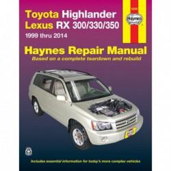 Haynes Toyota Highlander, Lexus RX 300-330-350 (1999-2014)