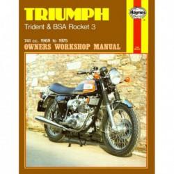 Haynes Triumph T150, Trident et BSA A75, Rocket (1969-75)
