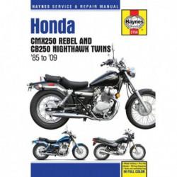 Haynes Honda CMX250 Rebel, CB250 Nighthawk Twins (1985-09)