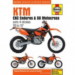 Haynes KTM 250, 400, 450, 520, 525 EXC Enduro et SX Motocross (2000-07)