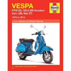 Haynes Vespa P, PX 125, 150, 200 et LML Star 2T (1978-14)