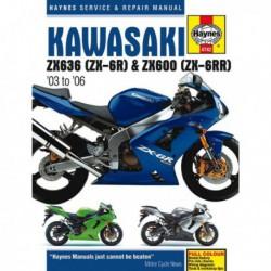 Haynes Kawasaki ZX636, ZX-6R, ZX600, ZX-6RR (2003-06)
