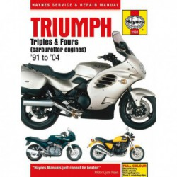 Haynes Triumph Adventurer, Daytona, Legend, Speed, Sprint, Tiger, Trident, Trophy, Thunderbird (1991-04)