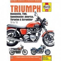 Haynes Triumph Bonneville, T100, America, Speedmaster, Thruxton, Scrambler (2001-15)
