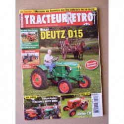 Tracteur Rétro n°35, Deutz D15, Gärtner T32, Someca M84 Laverda M60, Orgebin