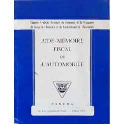 Commerce et Réparation de l'Automobile, aide mémoire fiscal