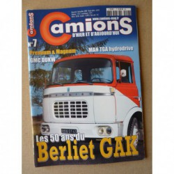 Camions d'hier n°7, Peugeot D4, DAF 2600, Berliet GAK, Berliet TBU CLD, GMC DUKW, Unic 370, Iveco Lorraine