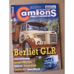 Camions d'hier n°9, Saviem SG2, Berliet GLR, Mercedes 1928S, Berliet T100, Ford C598T, Berliet GLR, DAF 80 ans
