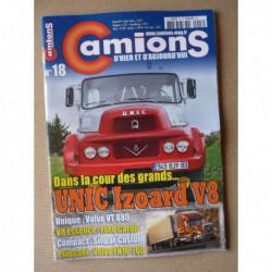 Camions d'hier n°18, Renault Sinpar Castor, Ford Cargo, Volvo Viking, Unic Izoard, DAF 50 60 70 80, Piste Gradis