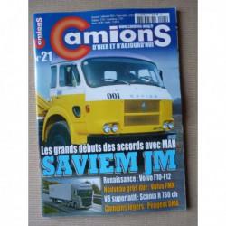 Camions d'hier n°21, Peugeot DMA Q5A Q3A, Volvo F10 F12, Saviem JM, Foden Alpha, Dunlop rail-route, Berliet PH12