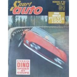 Sport Auto n°63, Lancia fulvia 1300 et Fiat Dino