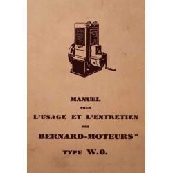 Bernard-Moteurs W0, notice d'entretien