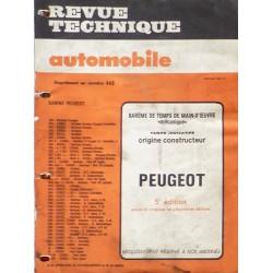 Temps de réparation Peugeot années 70 et 80 (5ème édition)