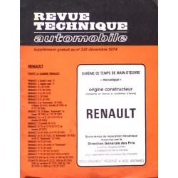 Temps de réparation Renault années 60 et 70 (1ère édition)